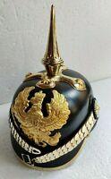 Leather German Pickelhaube Helmet Prussian Helmet WW1 Helmet Vintage Handmade