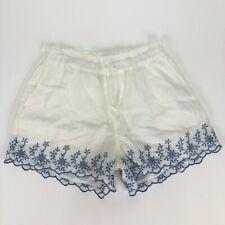 NWT GAP Kids Girls Size Large White Shorts Blue Floral Print