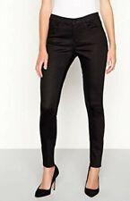 Principle Womens Black Soft Touch Smart Denim Jeans Uk 14R #Box 12