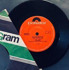 "The JAM 'DAVID WATTS' ORIGINAL 1978 AUSTRALIAN 7"" RED POLYDOR RAREST OZ JAM 45"