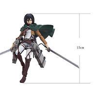 15cm Attack On Titan Eren Mikasa Levi Shingki no Kyojin Figure Anime Action Toys