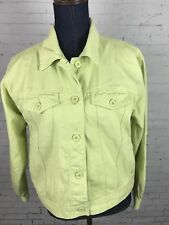 TALBOTS Green Denim Jean Jacket Long Sleeve  Sz S
