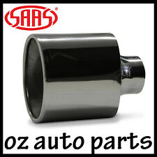 SAAS STAINLESS STEEL EXHAUST TIP VT V8 V6 HSV STRAIGHT 57MM COMMODORE HOLDEN