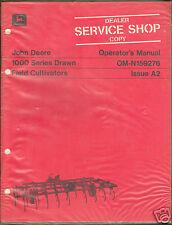 John Deere Tractor 1000 Field Cultivator Operator Manual Shop Dealer Copy ^