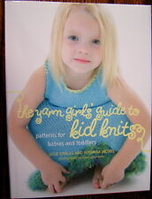 PATTERN BOOK YARN GIRLS GUIDE TO QUICK KNITS kids sweater blanket poncho dress