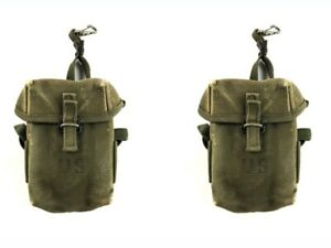 2 Military M56 Mag Pouches Small Arms Ammunition Pouch M1956 2nd Pattern ALICE