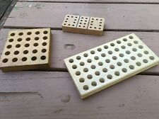 Lot Of 3 Ammo Reloading And Shooting Wood Trays .22 .45 .38 Cal
