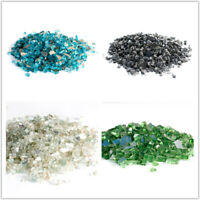 "5/10 Pounds Fire Glass  Fire Pit Glass Fireplace Crystals Rocks 1/2"" / 3/4"""
