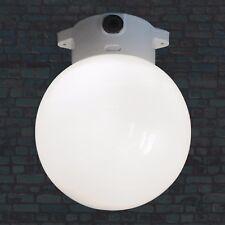 PORZELLAN SOCKEL LAMPE FABRIK BAUHAUS GLAS KUGEL LAMPE WAND DECKE LEUCHTE ANTIK