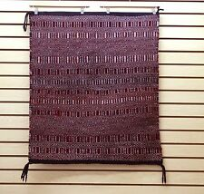"NICE GREAT CONDITION 29"" by 35""HAND WOVEN WOOL NATIVE AMERICAN NAVAJO INDIAN RUG"