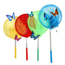 New listing Kids Colorful Telescopic Butterfly Net for Catching Bugs Insect Small Fish chest