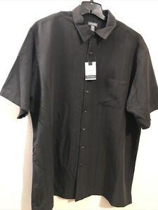 "Van Huesen Mens Dress Shirt 2XL Chest-30"" Black Temperature Activated WickingNEW"