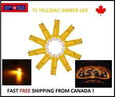 10X T5 Yellow Instrument Panel Cluster Dash Led Lights Bulbs 17 73 74 HID Bright