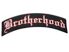 "BROTHERHOOD MC Rider Biker Big Embroidered Top Rocker Vest Back Patch 13.5"""