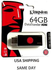 Kingston 64 GB USB 3.1 /3.0 /2.0 Flash Drive Data Traveler 106