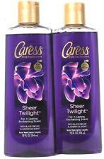 2 Bottles Caress 12 Oz Sheer Twilight Black Orchid & Juniper Oil Scent Body Wash