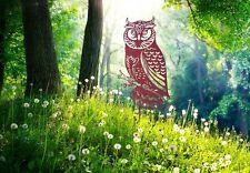 Edelrost Eule Dekoration Garten Terrasse Beet Figur Skulptur Uhu Vogel Metall