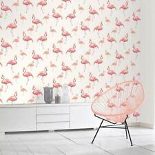 Double Flamant Rose Papier peint pailleté couronnes - Arthouse 674700 blanc/rose