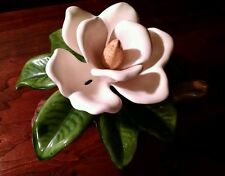 Palissy Ware Majolica Art Pottery Magnolia Artist Signed JH Figural Ceramic 2+LB