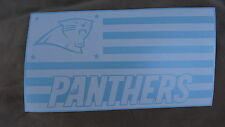 Carolina Panthers Flag car decal