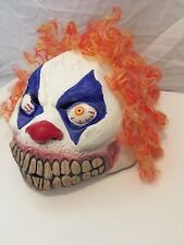 Latex Evil Grinning Clown Mask Halloween Evil Horror Fancy Dress Accessory