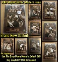 John Wayne Classic Western Films Brand New Sealed DVDs (Select Item)