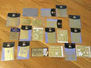 LASTING IMPRESSIONS BRASS STENCILS LOT Embossing Templates Weddings Cards NEW