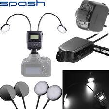 Macro LED Ring Flash Large LCD Light For Nikon Canon Olympus DSLR Camera