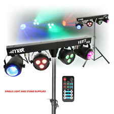More details for dj party disco lights partybar moonflower par t-bar stand dmx music activated