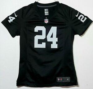 Nike NFL On Field Oakland Raiders Marshawn Lynch #24 Jersey Women's size Medium