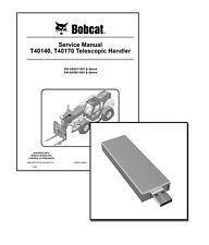 Bobcat T40140 T40170 Telescopic Handler Workshop Service Manual USB Stick + DL