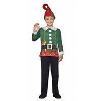 Boy Girl Child Elf Costume Shirt Ugly Holiday Christmas Funny Long Sleeve Shirt