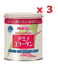 Meiji Japan Amino Collagen Powder 200g Can, 28-Day x 3-Can