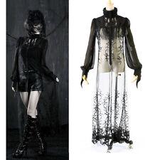 Punk Rave Sexy Casual Long Blouse Top Chiffon Broidery Maxi victorian KERA Dress
