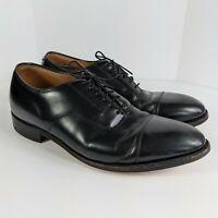 Johnston & Murphy Cap Toe Black Leather Men's Size 11 Dress Oxford Lace Up Shoes