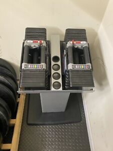 Powerblock Elite Dumbbell (set of 2) 5-90lbs W/ Stand Stages 1,2,3