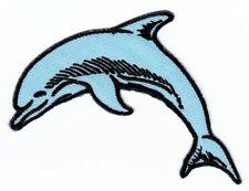 ap14 Delfin Aufnäher Bügelbild Patch Applikation Kinder Tiere DIY Fische Delphin
