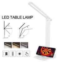 Dimmable LED Lampe table bureau Chargeur téléphone sans fil Étude lecture Vei DE