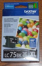 Brother LC75BK Black XL ink cartridge Exp 05.2017