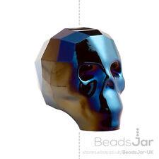 5750 Cuentas De Cristal Swarovski Calavera 13mm Azul Metalizado x2 (D22/5)