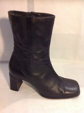 Designed For T Black Ankle Leather Boots Size 5