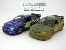 Set of 2 Subaru 2007 Impreza WRC 1/36 Scale Diecast Model by Kinsmart - BLUE