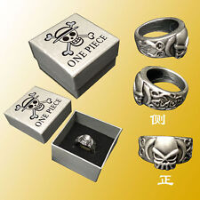 Finger Ring Cosplay Gift & Box 20Mm Fashion Anime One Piece Ace Logo Rings Metal