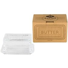 Tala Butter Glass Dish, Clear - Dish Originals Classic Lid Cover Retro Style