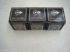3 DUNLOP COMPETITION SINGLE YELLOW SQUASH BALLS WSF APP