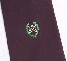 MGC Golf Club Cravatta da definire & DICK vintage con Borgogna 1970s 1980s
