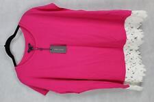 Tommy Hilfiger Women's Sleeveless Lace Trim Top Shirt Blouse Plus Size 1X Pink