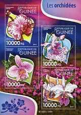 Guinea 2015 MNH Orchids 4v M/S Flowers Flora Nature Cattleya Phalaenopsis