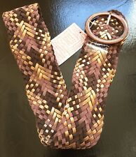 Women's Suede Woven Braided Wide Belt Urban Outfitters , Size M/ L. NWT