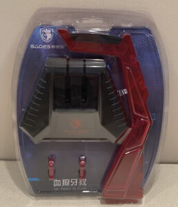 "Sades ""Staff of Blood"" Red Gaming Headset Earphone Stand Holder Display.  NEW"